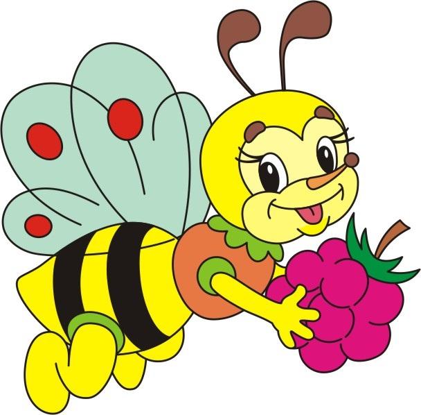 Детский рисунок с пчелами